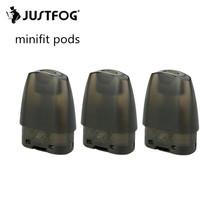 JUSTFOG MINIFIT Vape Pod kaseta 1 5ml zbiornik 1 6ohm atomizer do elektronicznego papierosa dla MINIFIT zestaws postawy polityczne w JUSTFOG Q16 zestaw tanie tanio Wymienne JUSTFOG MINIFIT Kit JUSTFOG MINIFIT Pods Metal 3pcs pack