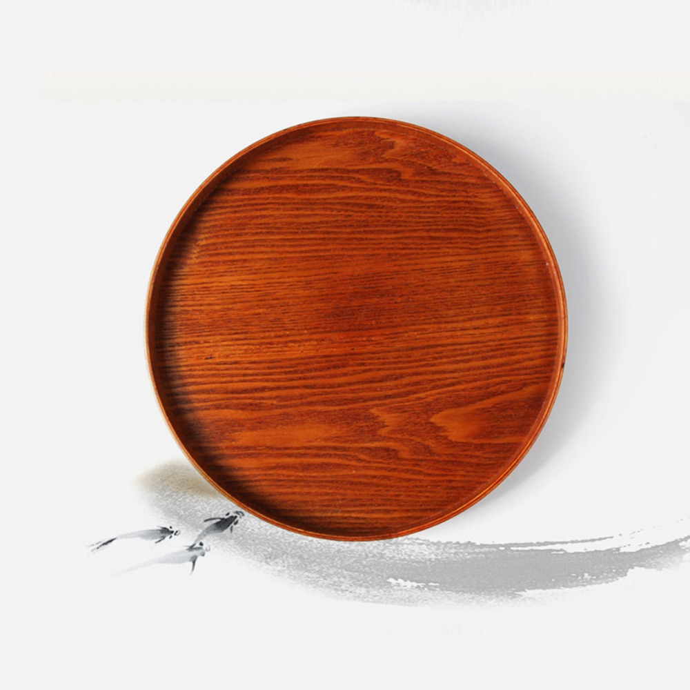 Phenomenal Cherry Wood Dark Brown Round Multi Functional Food Tray Andrewgaddart Wooden Chair Designs For Living Room Andrewgaddartcom