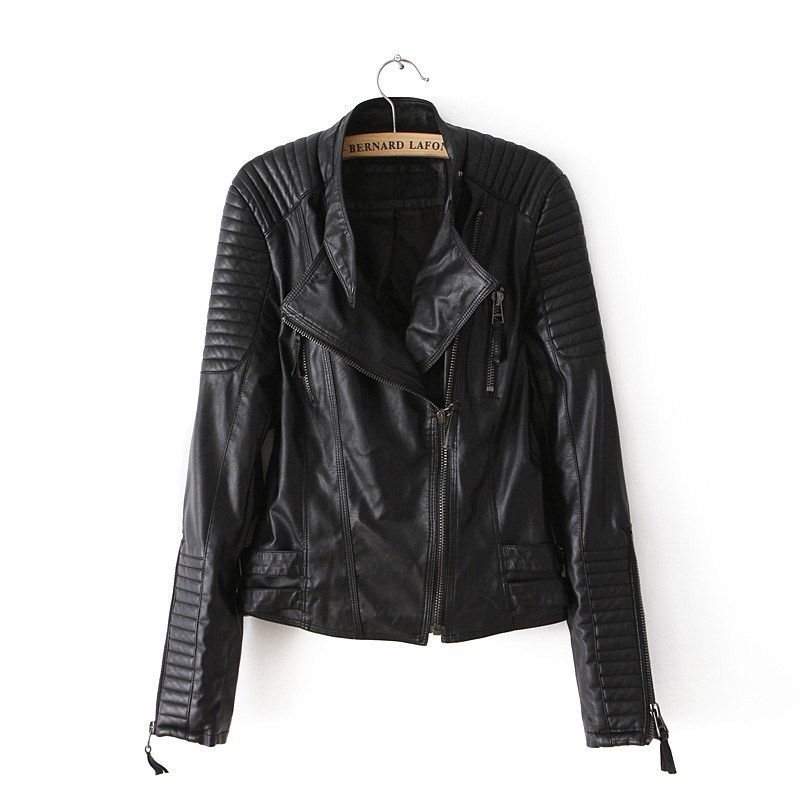 PU   Leather   Jacket Women Black Zipper Female Casual Spring Autumn 2019 Biker Motorcycle Short Jackets Slim Short Streetwear Coats
