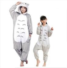 Cosplay Totoro Costume Christmas Children's Pajamas  Cartoon Animal Onesie Kids Long Sleeve Flannel Girls Pyjamas Boys Sleepwear