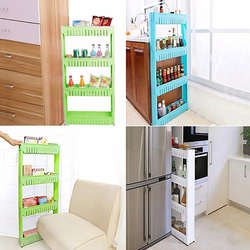 Kitchen Crevice Storage Shelf Bedroom Bathroom Organizer Movable Storage Rack Drop Shipping