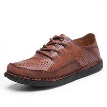 High Quality Summer Men Genuine Leather Shoes Dress Men Formal Shoes Wear-resistant Waterproof Oxford Shoes for Men