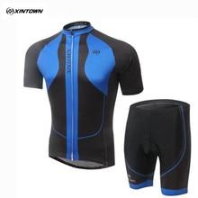 Estilo 2017 xintown verano ciclismo jersey ciclismo bicicleta de manga corta pantalones cortos de ciclismo pantalones cortos bib bici cortos