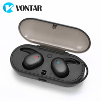 VONTAR TOUCH TWO Bluetooth 5.0 TWS Sweat proof Mini Wireless Ear buds Twins Earphone Headphones With Battery Case Hands Free