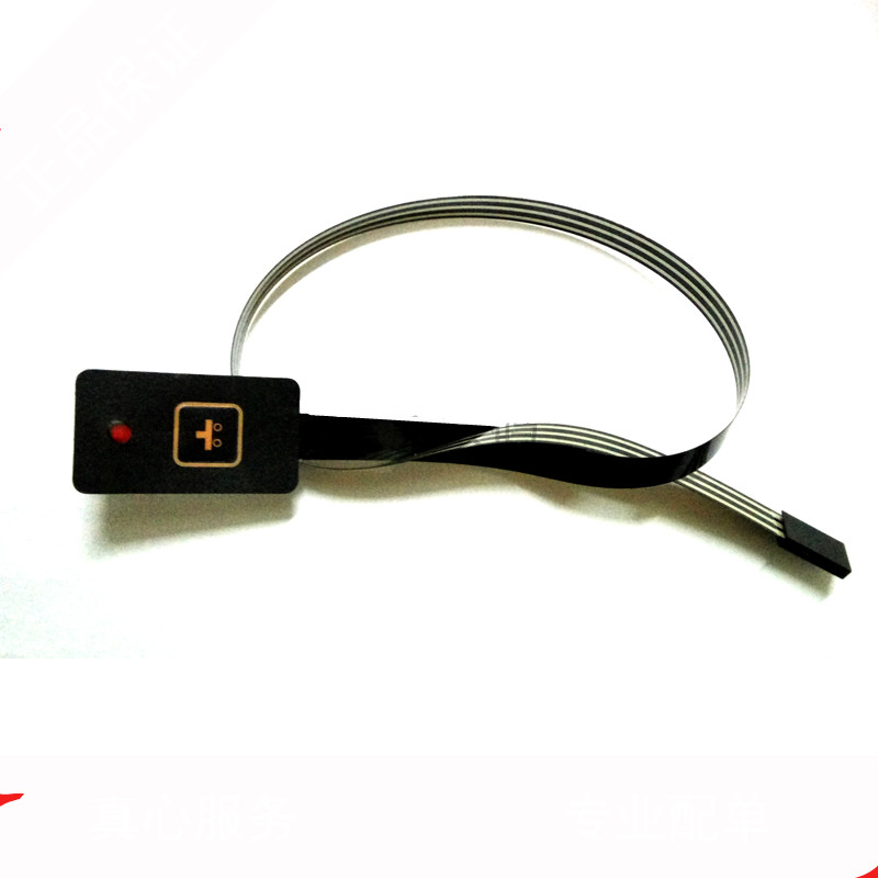 Single 1 bond button of LED membrane switch Long push buttons keys extension cable switch