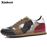 Xinbest 2018 Men's Running Shoes Outdoor Athletic Walking Sport Shoes For Men Run Man Brand Genuine Leather Summer Mens Sneakers