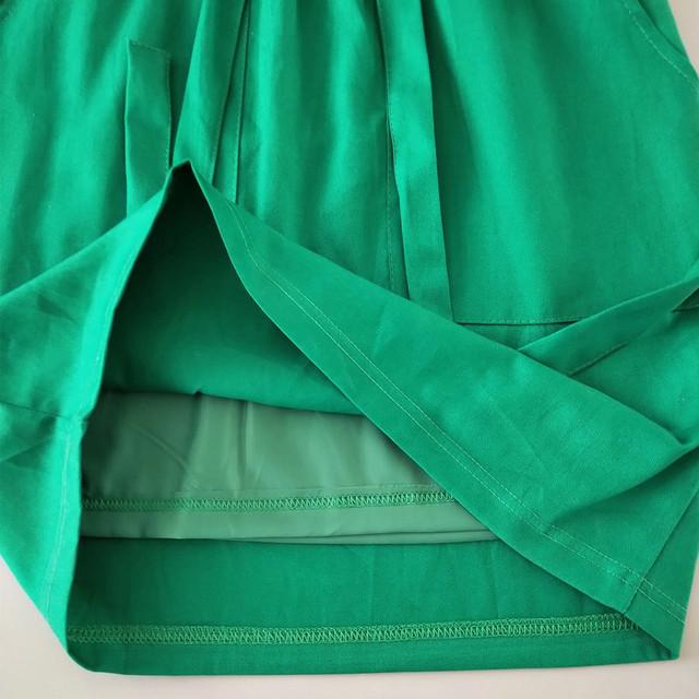 Womens Office Pencil Skirt Cotton Elastic Waist Skirt