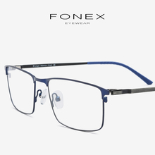 1e15633e60 Titanium Alloy Eyeglasses Frame Men New Square Prescription Male Myopia Optical  Glasses Frames Man Japan Screwless