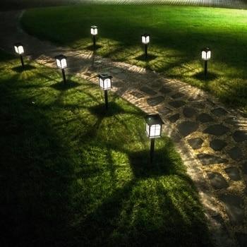 House Shape Lawn Light LED Outdoor Waterproof Garden Lawn Light Landscape Lights Glass Lampshade Path Decorative Lighting