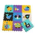 9 pcs EVA Puzzle de Espuma Mat Para Lactentes E Crianças de Piso Impermeável Jogo de quarto Carpete Indoor Decoração Mat Padrão Dos Desenhos Animados Puzzle Mat Divisão