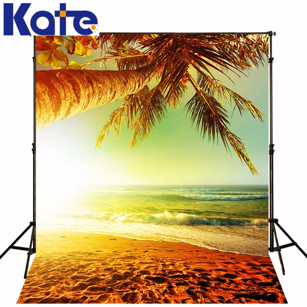 Kate Photography Background Evening Dusk Sandy Beach Photo Backdrop For Summer Wedding,Party,Children Photographic Background сумка kate spade new york wkru2816 kate spade hanna