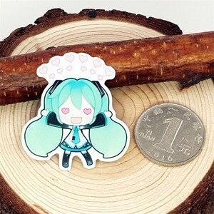 Image 4 - 40 sztuk Cartoon mini zielona dziewczyna naklejki do scrapbookingu naklejka na laptopa Decor lodówkę deskorolkę do podróży Suitcas narzędzie do majsterkowania