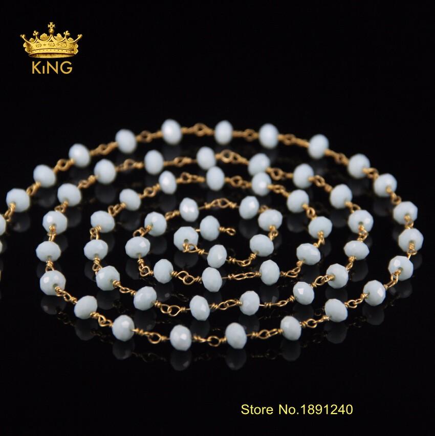 89065959140a 5 metro facetado Rondelle Abacus forma cristal piedras preciosas ...