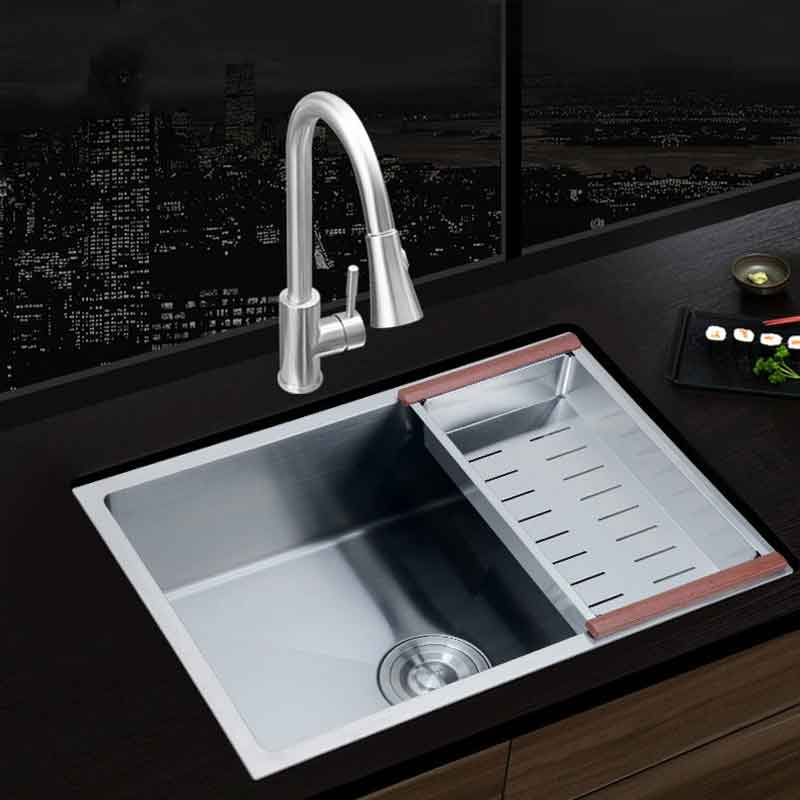 kitchen sink above counter or udermount sinks vegetable washing basin stainless steel single bowl 3mm thickness sinks kitchen