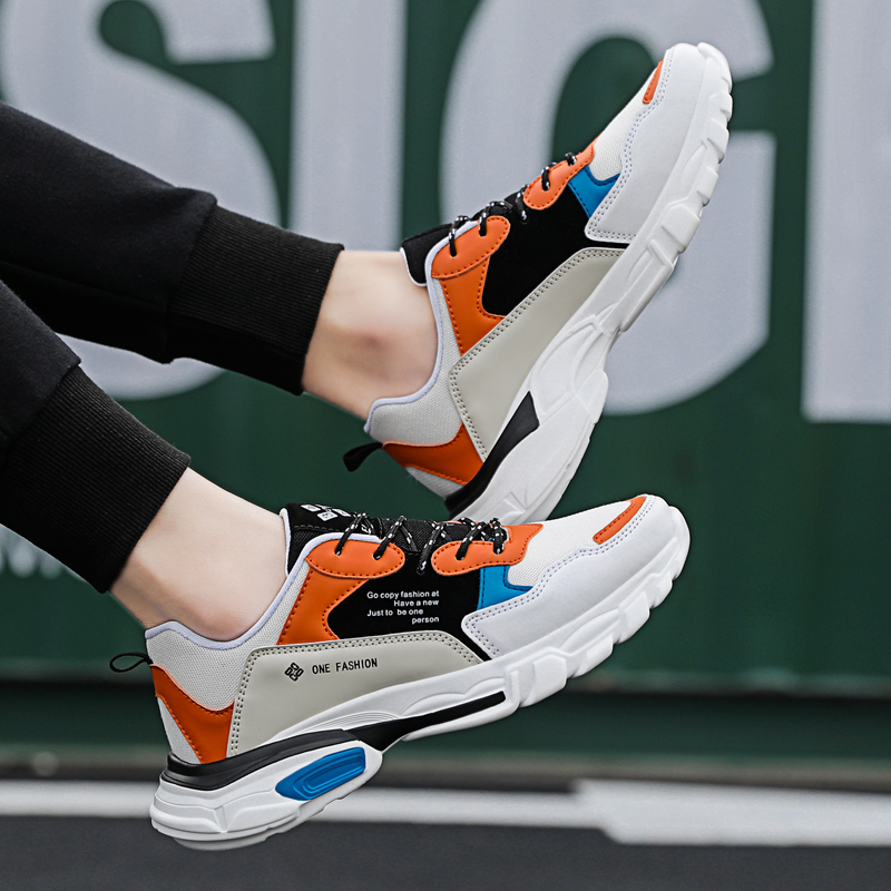 Image 3 - 2019 New Fashion Mesh Men Comfortable Casual Shoes Male Lightweight Outdoor Flat Shoes Lac Up Men Shoes Breathable Sneakers-in Men's Casual Shoes from Shoes