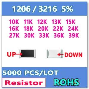 Image 1 - JASNPROSMA 1206 J 5% 5000 pièces 10K 11K 12K 13K 15K 16K 18K 20K 22K 24K 27K 30K 33K 36K 39K haute qualité smd 3216 ohms
