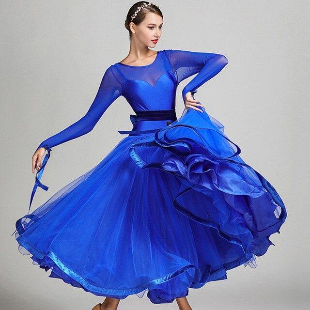 5 colori blu ballroom concorso vestito da ballo di tango abiti da ballo  valzer standard abiti cae1b66a438