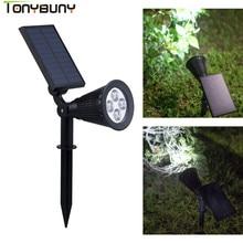 лучшая цена Hot Selling Solar Spotlight Lamp Waterproof  solar led spot light IP65 Outdoor Lighting Garden Lawn Lamp Landscape Wall Lights