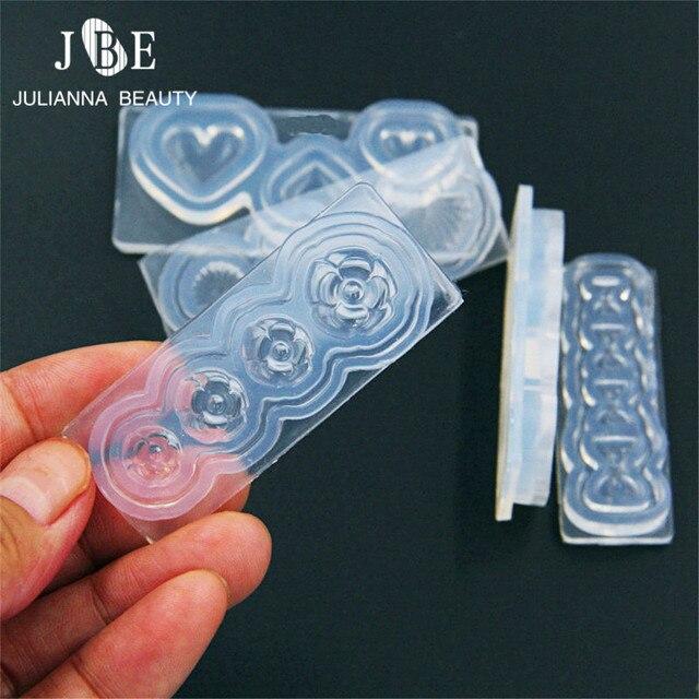 1 stck kreative silikon 3d nagel formen herz starfish bownot muster fr uv gel salon manikre - Muster Fur Nagel