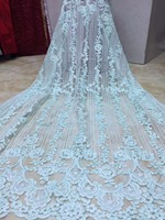 2018 African Lace Fabric Lemon Embroidered Sequins Nigerian Laces Fabric Bridal High Quality French Tulle Lace Fabric For Women