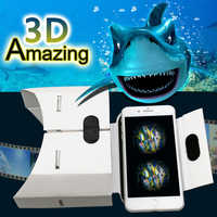 DIY Portable Virtual Reality Glasses Google Cardboard 3D Glasses VR Box For SmartPhones For Iphone X 7 8 VR