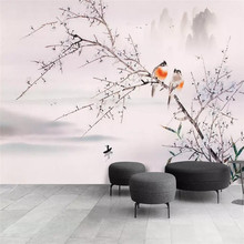 Flower and bird background professional production mural factory wholesale wallpaper poster photo wall