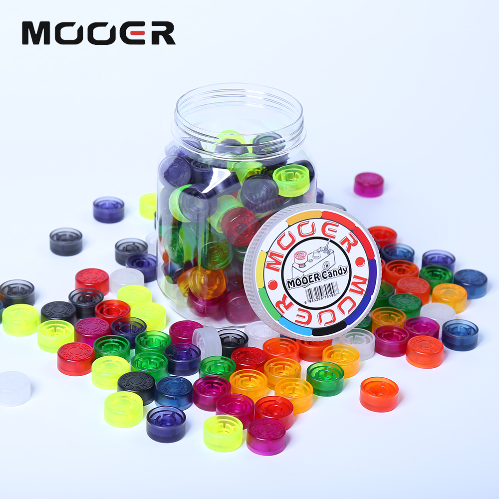 100 pcs Mooer Candy Footswitch Topper with Colorful Plastic Bumpers and Multi Color For Guitar Effect Pedal mooer ninety orange phaser guitar effect pedal micro analog effects true bypass with free connector and footswitch topper