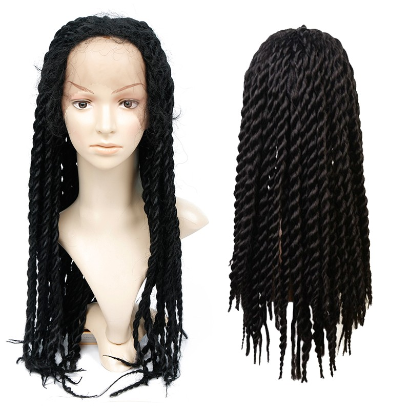 Synthetic lace front braids wig