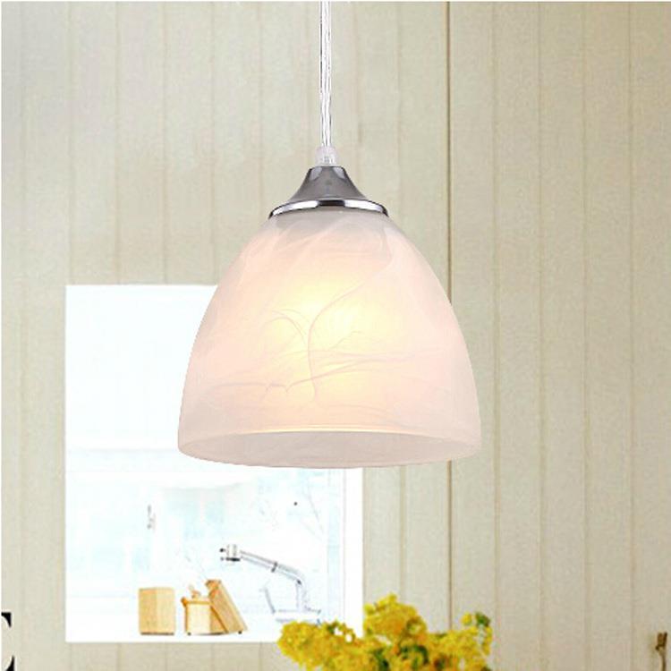 ФОТО Garland Minimalist Modern Restaurant Chandelier Lamp Living Room Lamp Single Head Right American Pastoral Lighting Lamps