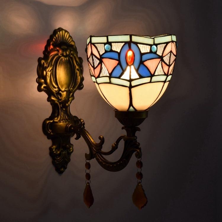 tiffany fashion European style wall lamp Baroque Bohemia mirror light rustic bed-lighting lamps tiffany ems free shipping tiffany pendant light fashion romantic lighting rustic lamps restaurant lamp df68