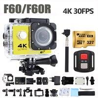 GOLDFOX F60 F60R 4K 30FPS Sport Action Camera 170D Len 1080P 60FPS WIFI Camera 30M Go