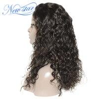 New star натуральная волосы естественная волна Связки парик с 5x5 закрытие бразильский натуральные волосы 3 часть Синтетические волосы на круже