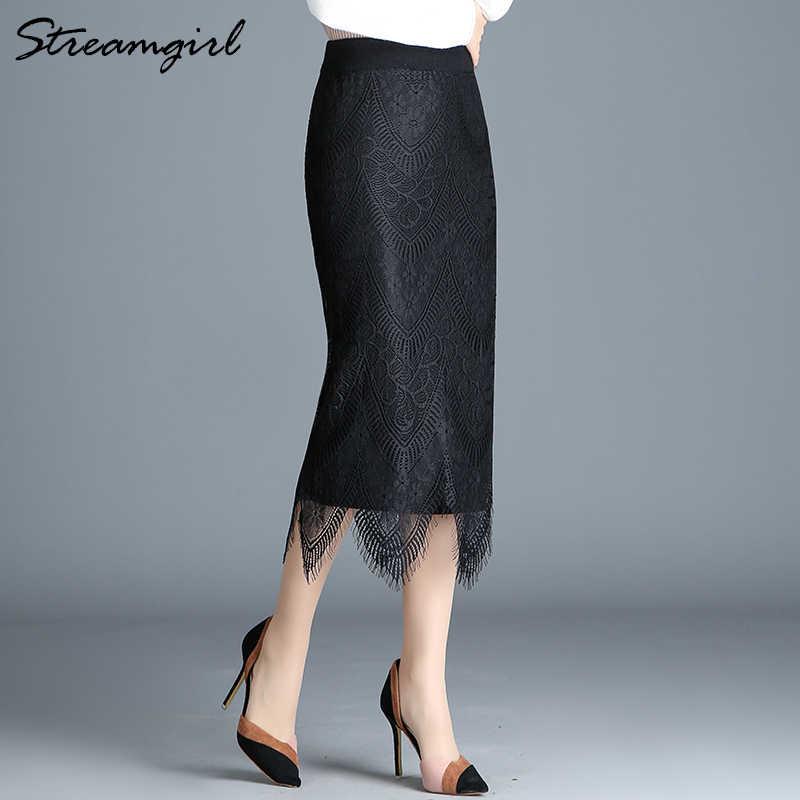 584210248b4 ... Женская юбка карандаш с высокой талией зимняя теплая вязаная юбка с юбки  с разрезом Midi Офисная ...