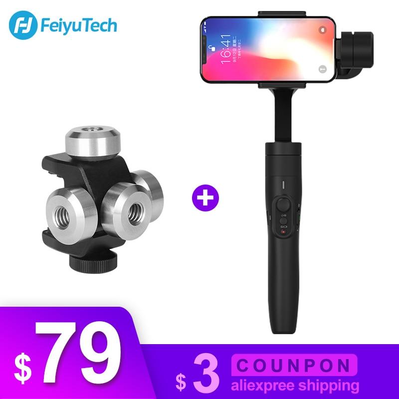 Feiyutech Vimble 2 3-eje cardán portátil Smartphone estabilizador para xiaomi samsung iphone gopro Cámara de Acción vs dji osmo móvil 2
