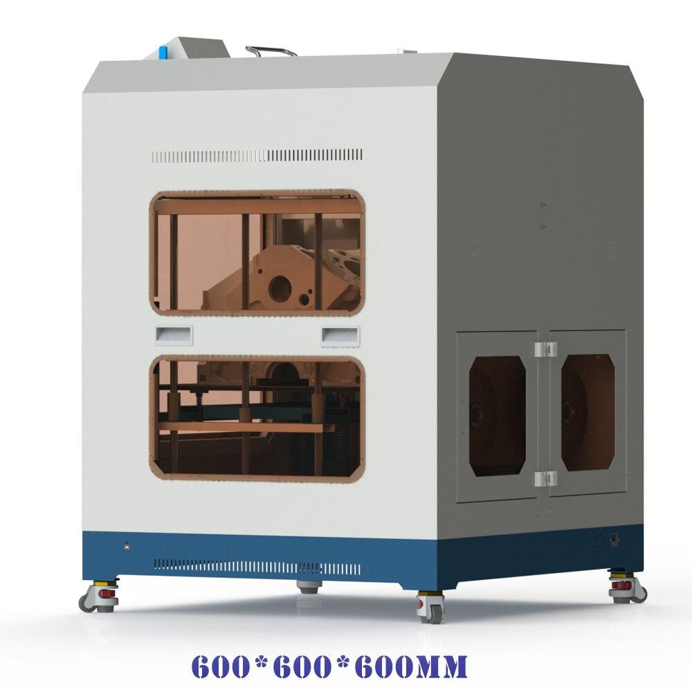 Darmowa wysyłka CreatBot drukarka 3d D600 PRO podwójna wytłaczarka gorąca zamknięta komora auto-poziom łóżko 600*600*600mm