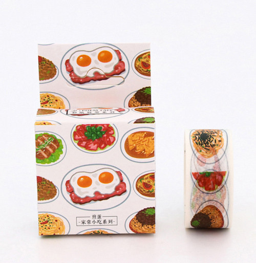 2cm Wide Food Style Breakfast Washi Tape Masking Tape DIY Decoration Scrapbooking Sticker Label Tape School Office Supplies