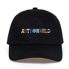 цена на Travi$ Scott latest album ASTROWORLD Dad Hat 100% Cotton embroidery Astroworld Baseball Caps Unisex Travis Scott Bone Garros