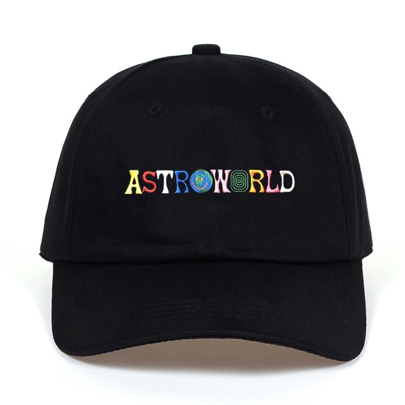 Travi$ Scott latest album ASTROWORLD Dad Hat 100% Cotton embroidery Astroworld   Baseball     Caps   Unisex Travis Scott Bone Garros