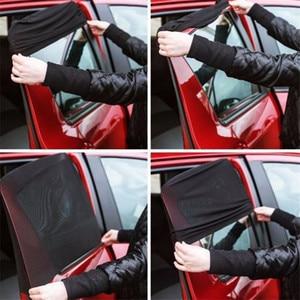 Image 4 - Protección trasera para ventana de coche, parasol de ventanilla trasera de coche ajustable, 2 uds., negro, ajustable, parasol lateral de ventanilla trasera, visera de malla para coche