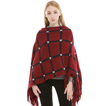 2018 New Fashion Warm Cashmere Winter Scarves Scarf Women Soft Tassel Knitted Plaid Shawls Autumn Female Pashmina Poncho Capes