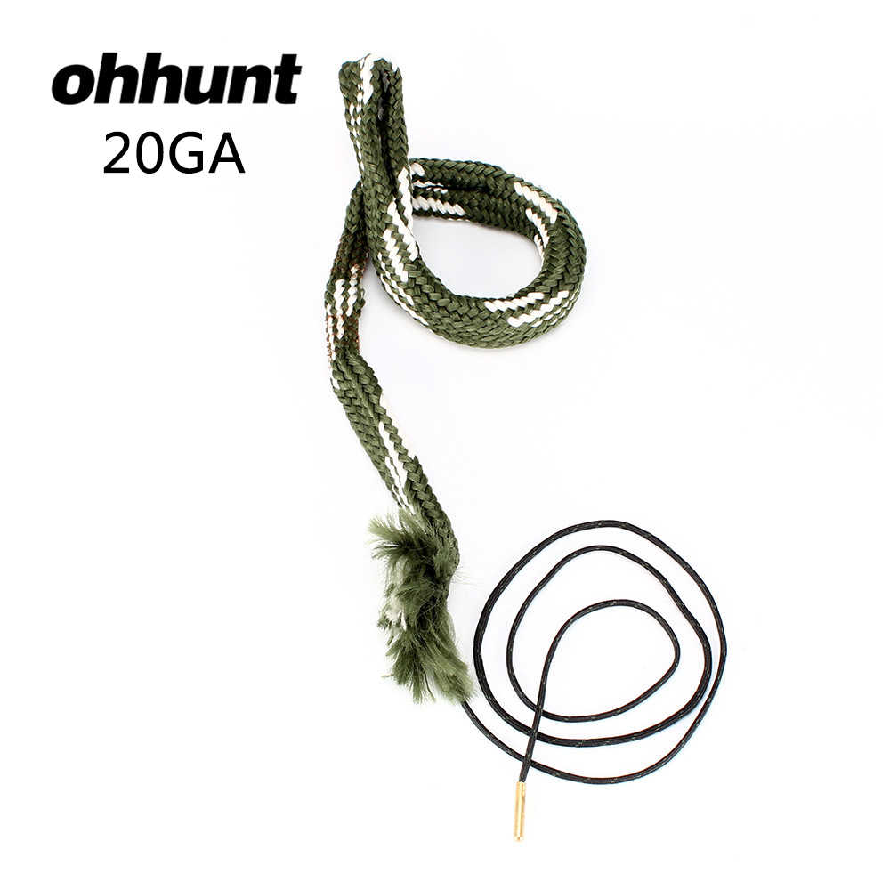 Ohhunt Tactical Hunting Boring Snake Gun Cleaning 20 Cal GA Gauge Boresnake Barrel Shotgun Brons Cleaner Kit