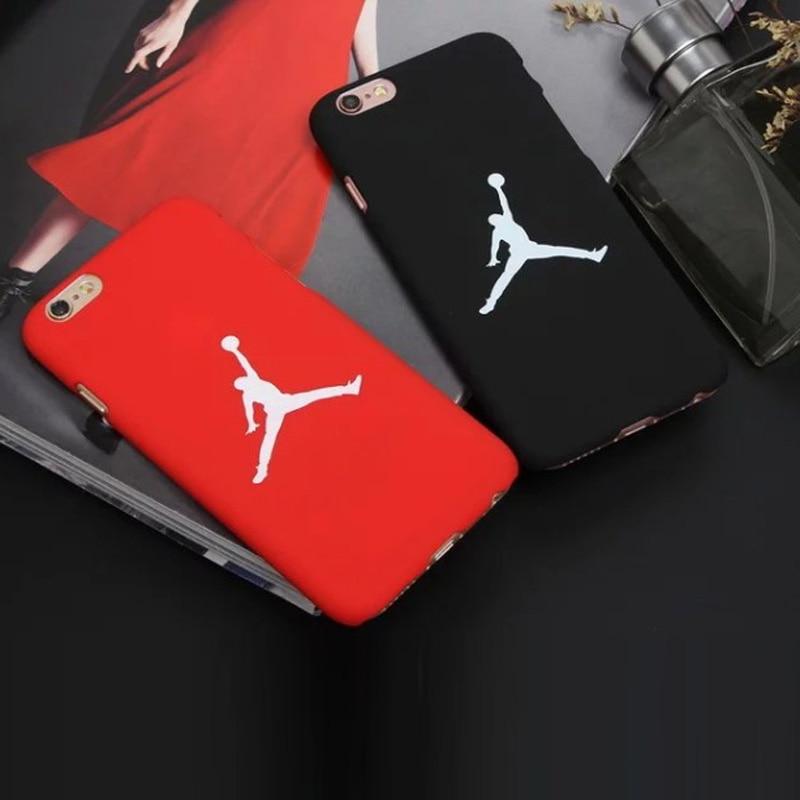 For iPhone 6 6s 7 Plus 5 5s se Coque Superme Jordan Case Basketball Hard PC  Protective Supreme ... 275ac64f570