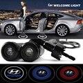 2 x Car Door Light Laser Welcome Ghost Shadow Projector Logo Light For Hyundai Accent I30 I35 Santa fe solaris elantra parts