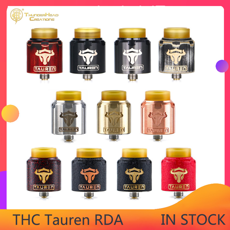 Original THC Tauren RDA Atomizer Double Sides With 28 Micro Airholes Electronic Cigarette Rebuildable Vaporizer Vs Druga Rda