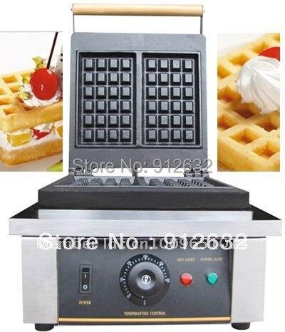 waffle iron 2pcs waffle making machine each time, Waffle maker machine WITH TIMER, Commercial Waffle Toaster