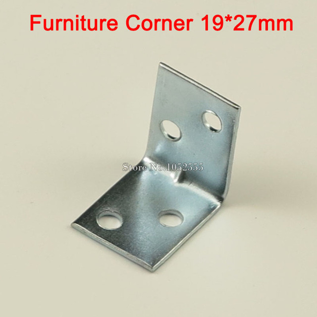 50PCS 19*27mm Iron L Shape Furniture Connecting Corner Brackets ...