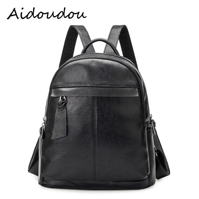 waterproof backage Genuine Leather Backpack School Bags Lady fashionTravel Shoulder Bag Designer backpacks teenage girls