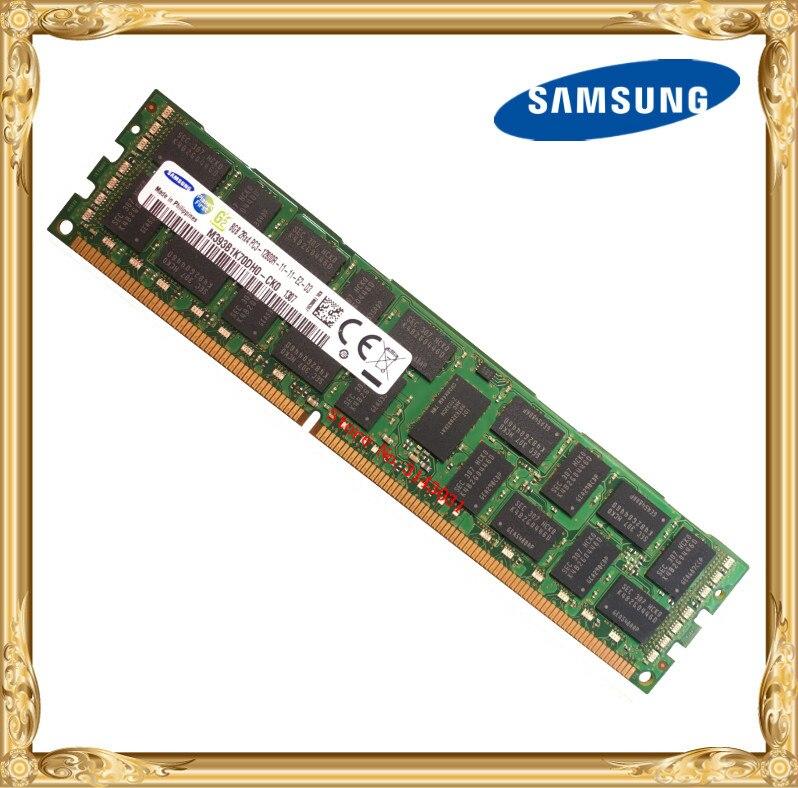Memória ddr3 8 gb 16 gb do servidor de samsung 1600 mhz ecc reg ddr3 PC3-12800R ram 240pin do dimm do registro 12800 8g 2rx4 x58 x79