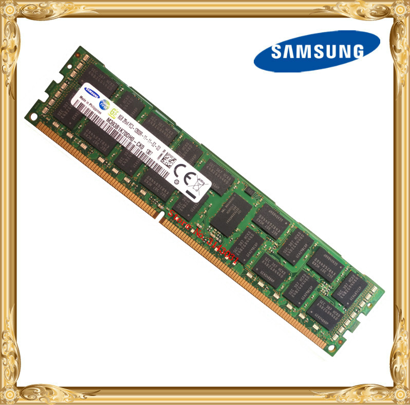 Samsung server memory <font><b>DDR3</b></font> <font><b>8GB</b></font> 16GB 1600MHz ECC REG <font><b>DDR3</b></font> PC3-12800R Register <font><b>DIMM</b></font> RAM 240pin 12800 8G 2RX4 X58 X79 image
