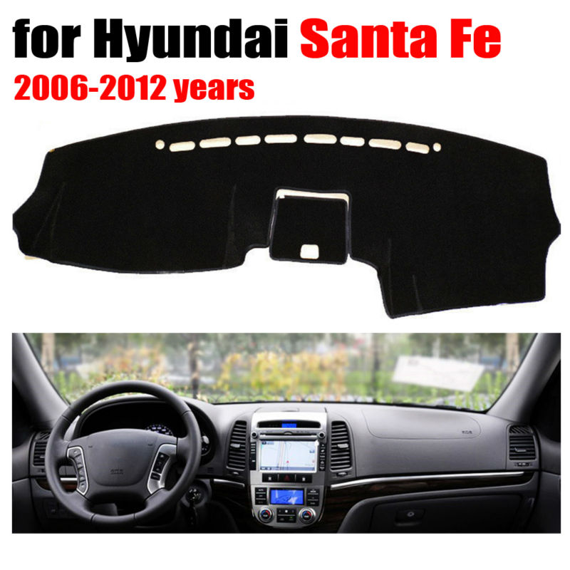 Car dashboard covers mat for Hyundai Santa Fe 2006-2012 years Left hand drive dashmat pad dash cover auto dashboard accessories dashmat original dashboard cover buick skyhawk